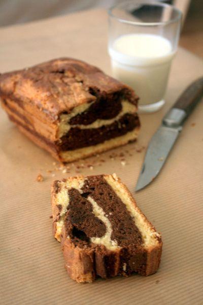 Gâteau marbré façon SAVANE maison http://www.750g.com/recettes_fait_maison.htm #750g #750grammes #faitmaison