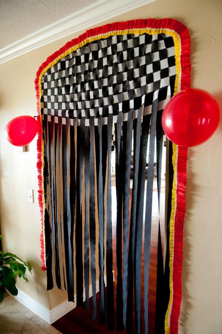@ missy, neat idea for Alex! NASCAR party entrance