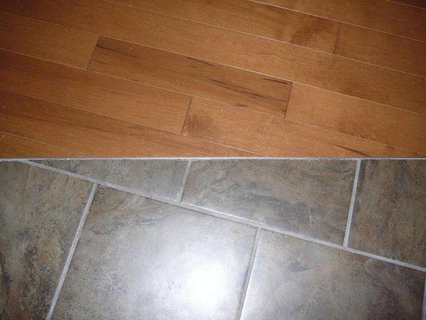 Hardwood Transition To Ceramic Tile Flooring Diy