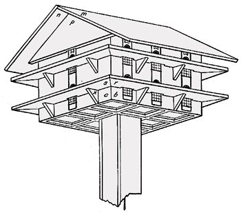 bird house plan, with lots of instructions about keeping sparrows out. except i don't mind sparrows, so it will be half as much work.
