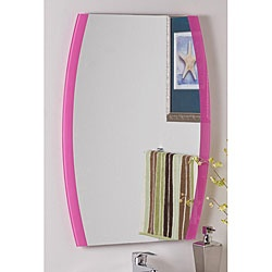 Paula's Pink Frameless Wall Mirror