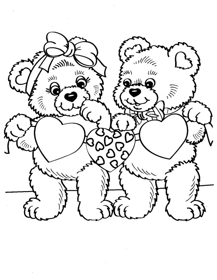 Lisa Frank True Love Bears Coloring Page 1171x1516