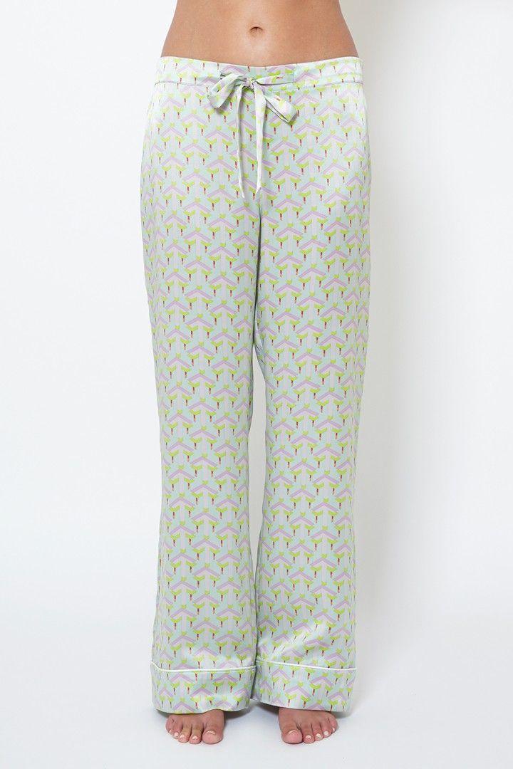 Olivia von Halle silk pajamas