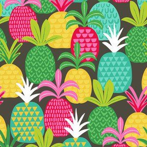 Maude Asbury - Tutti Fruitti - Pineapple Fields in Grey
