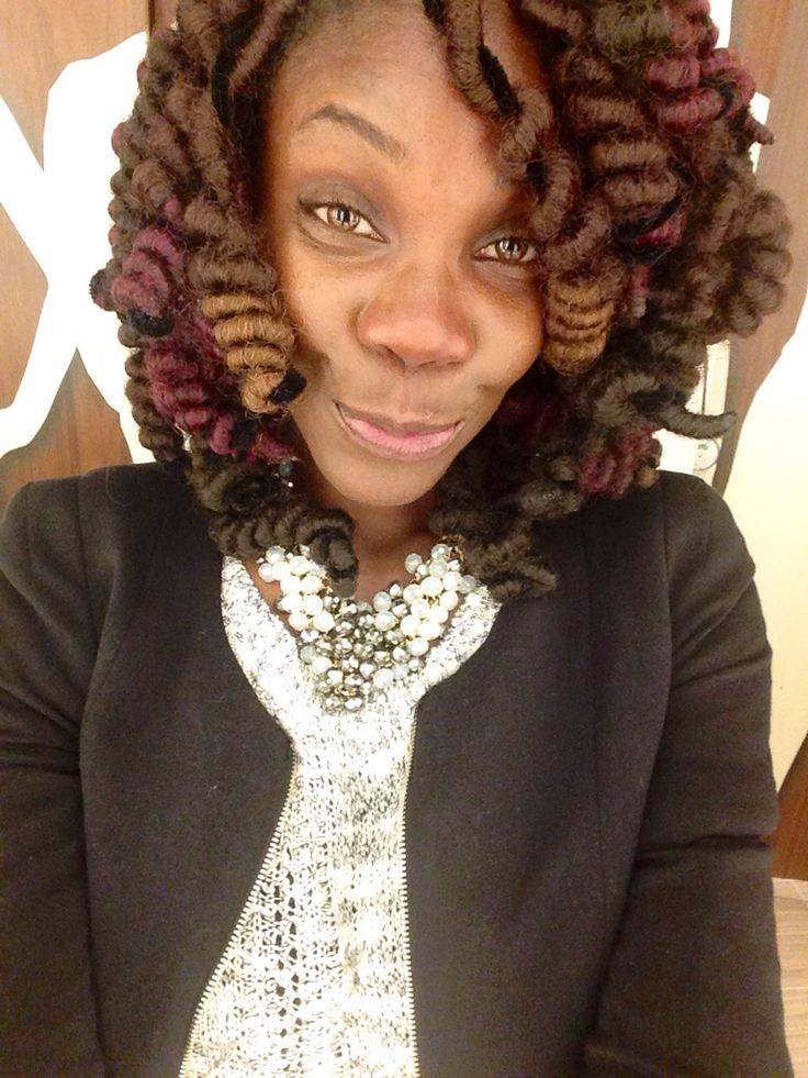 faux locs styled with pipe cleaners for tight curl look