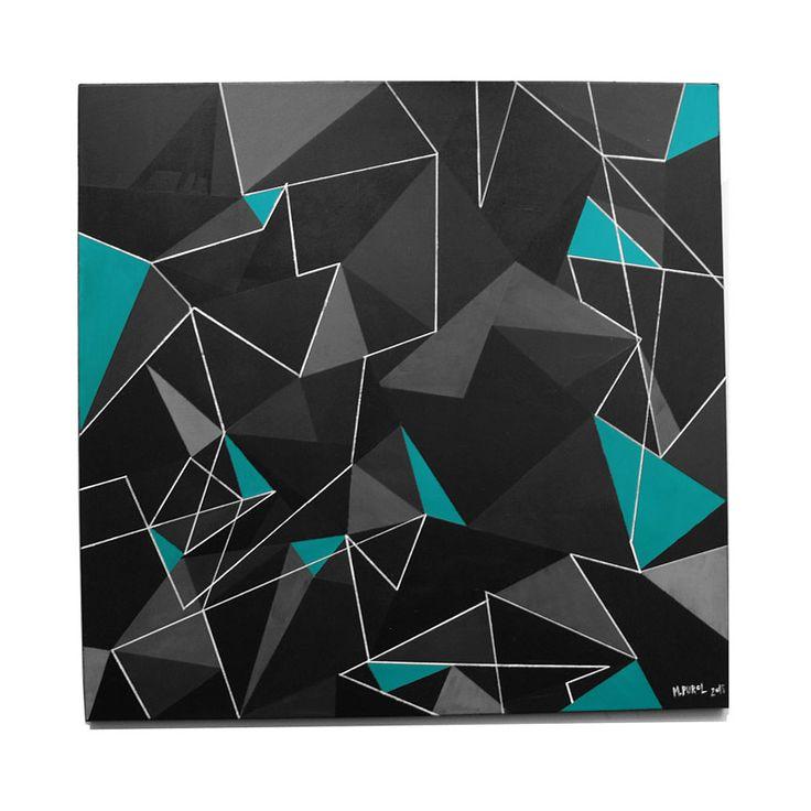 Magdalena Purol AKRYL TRIGO NUM 9 malarstwo abstrakcyjne #modern #art #trójkąty