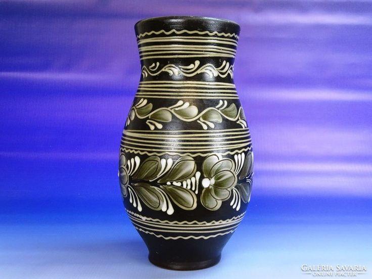 0H372 Retro kerámia váza 27 cm