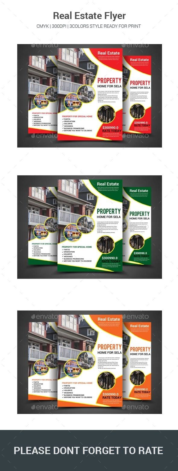 #Real #Estate #Flyer #template - #property #business Flyers Print #design. download here: https://graphicriver.net/item/real-estate-flyer/20246600?ref=yinkira
