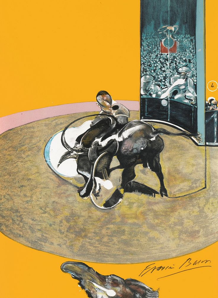 Francis Bacon - The Bullfight. Art Experience NYC www.artexperiencenyc.com/social_login/?utm_source=pinterest_medium=pins_content=pinterest_pins_campaign=pinterest_initial