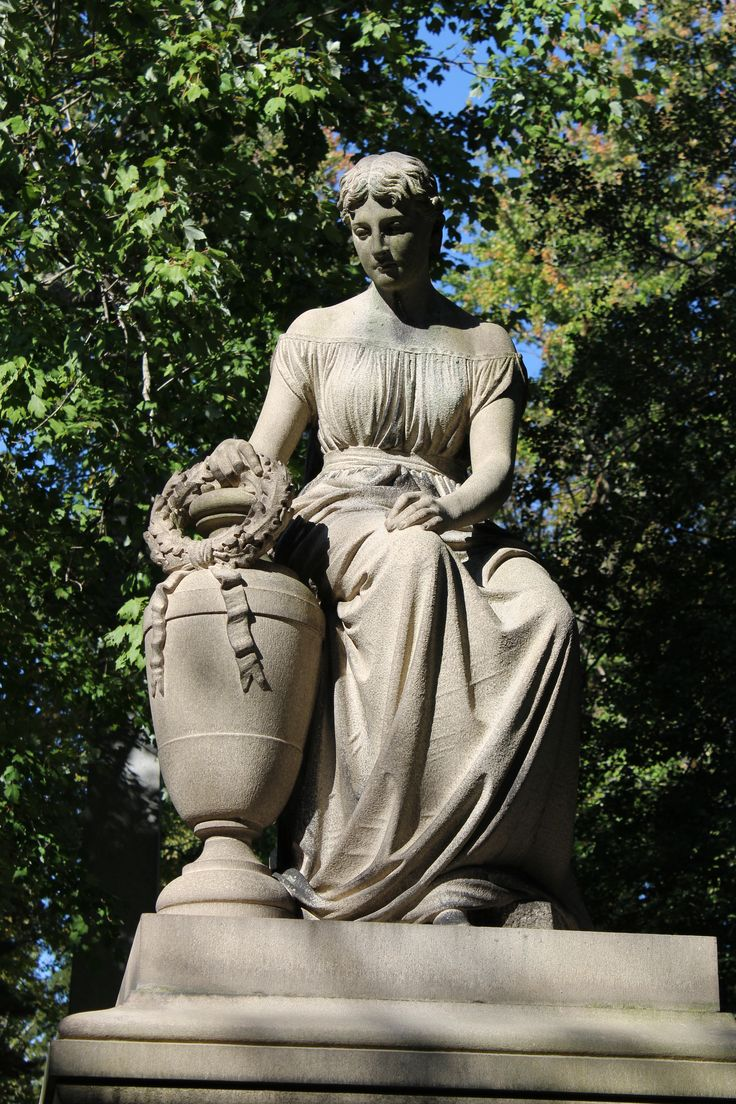#Cemeteries- Langdon statue at the Spring Grove Cemetery in Cincinnati, Ohio (Hamilton Co.) (1/1) (c) The Funeral Source, photo: Ken Naegele