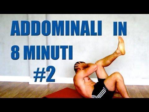 Addominali Allenamento in 8 minuti: Programma #2 Obliqui - YouTube