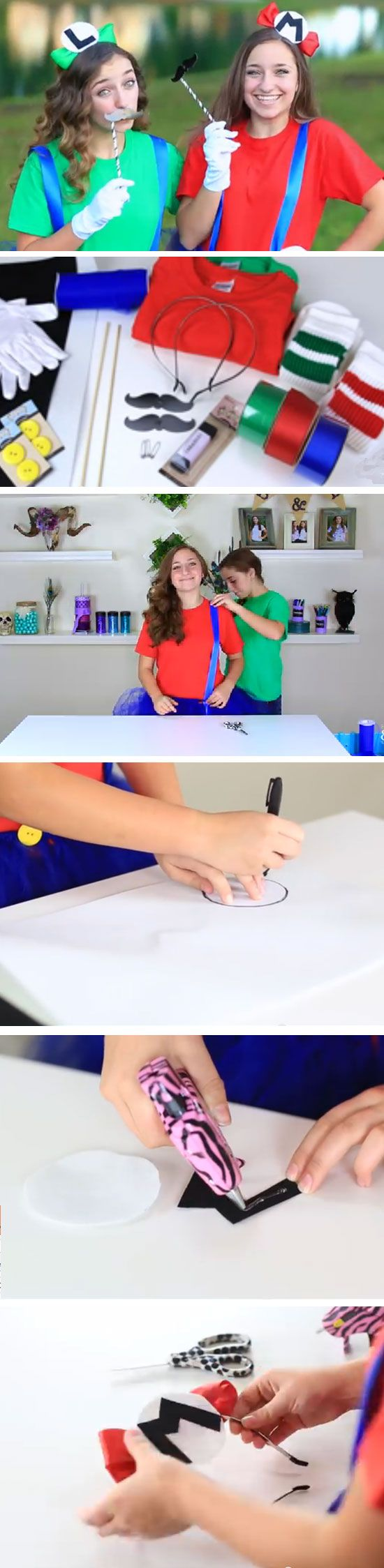 Mario & Luigi | Last Minute DIY Halloween Costumes for Teens                                                                                                                                                     More