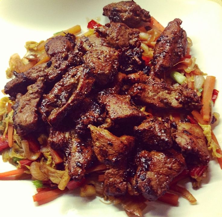 Chinese Duck Stir-fry from the Slimming World book 'Taste of Asia' :)
