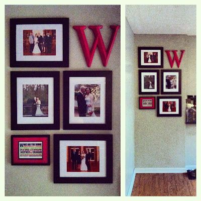 Picture Frame Wall Layout for wedding, could be used for random photos though too I suppose!