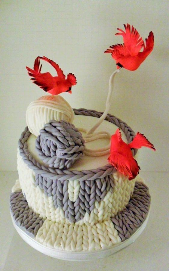 Winter Cake | http://www.cake-decorating-corner.com/