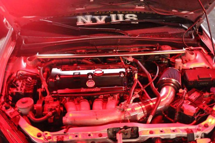 Kit's new motor it's a k24 bottom end with k20 head #k24 #k20 #honda #acura #toydrive #carmeet
