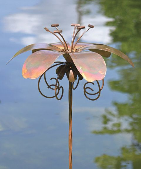 Love This Flamed Daylily Garden Stake By Ancient Graffiti On