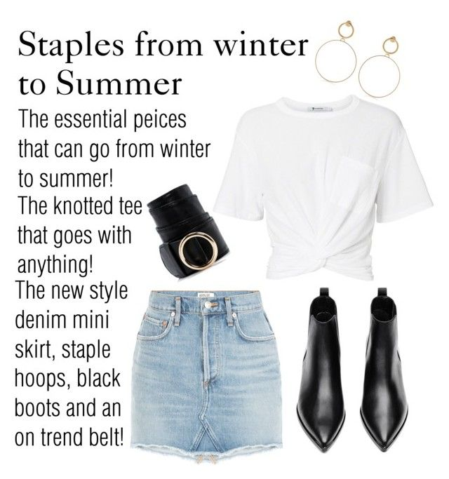 """""""Versatile staples!"""" by alana-alford on Polyvore featuring T By Alexander Wang, Maria Francesca Pepe, Acne Studios and Boohoo"""