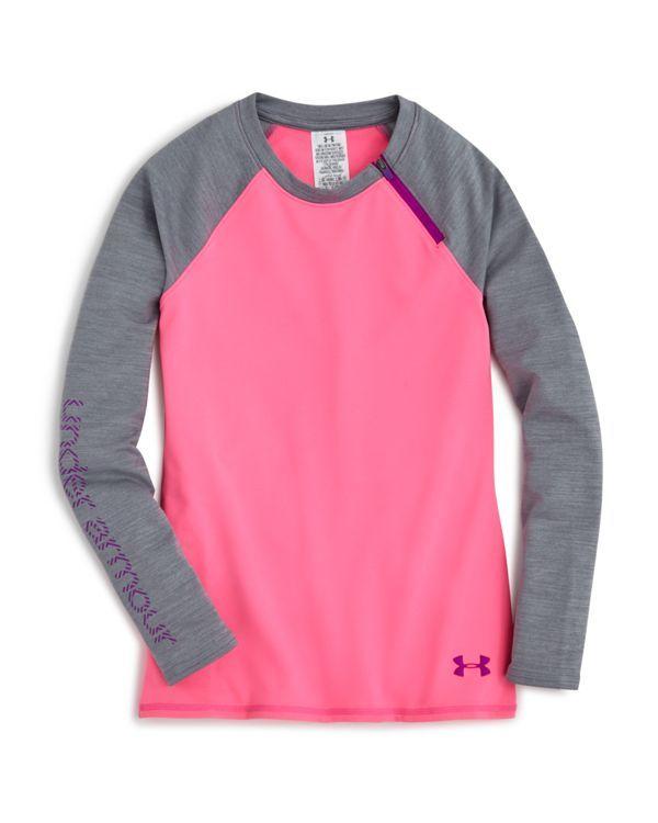 Under Armour Girls' Color Block Raglan Shirt - Sizes Xs-xl