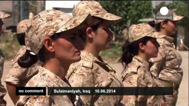 Las mujeres soldado del Kurdistán iraquí preparadas para el combate