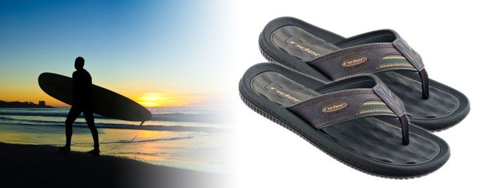 Dunas V - Brown A brand-new take on one of our bestselling sandals, this comfortable flip-flop features a classic, synthetic-leather upper, a soft, waffle-textured EVA insole, and an extra-soft upper and fabric toe.