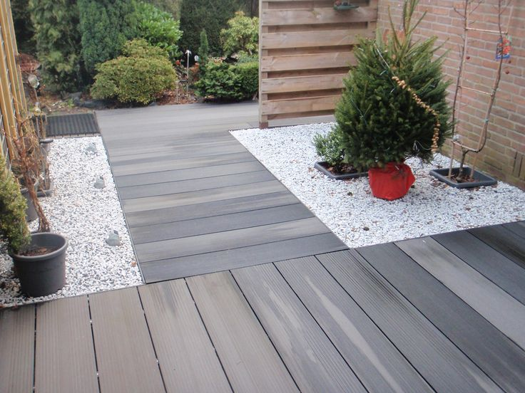 Composiet vlonder tuin sfeer bestrating tuinmani tuinidee pinterest tes elk and tuin - Bedek een houten terras ...