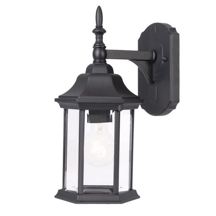 Acclaim Lighting Craftsman 14-in H Matte Black Outdoor Wall Light