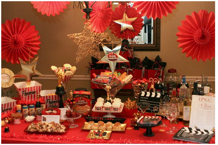 Movie themed party food table!