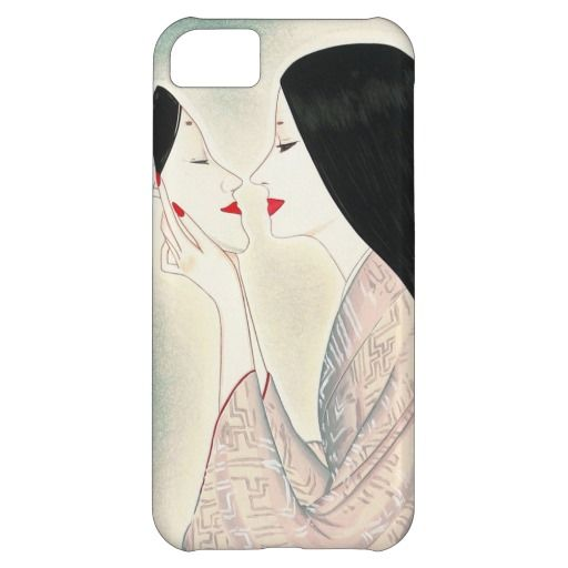 Beauty holding a Noh mask Takasawa Keiichi lady Case-Mate Barely There iPhone 5C Case