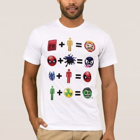 Marvel Emoji Character Equations T-Shirt - click/tap to personalize and buy