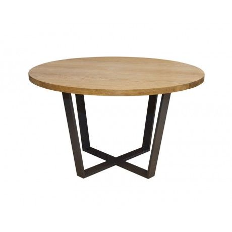 ROTONDO round oak dining table in Scandinavian style