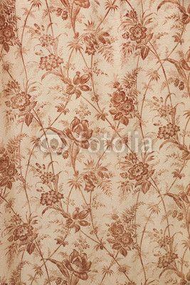 """Stampa su tela """"Lo sfondo floreale vintage"""". #regala un #quadro #stampa su #tela per #cameradaletto"""
