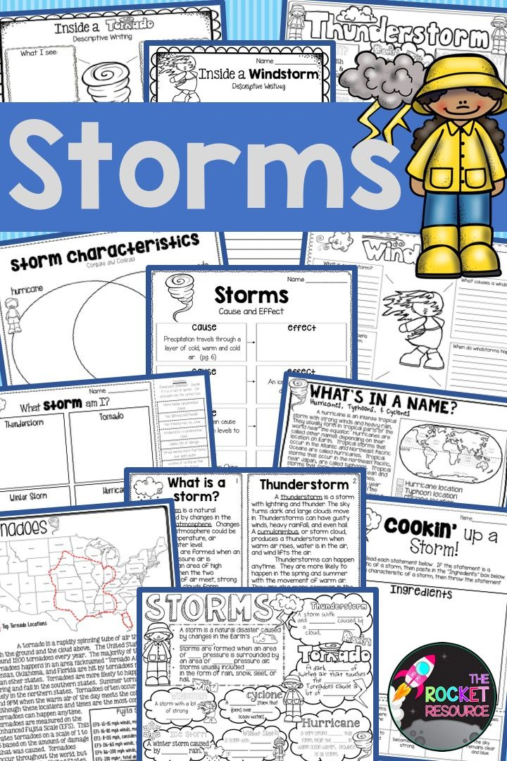 Learn About The Different Types Of Storms While Practicing Important Reading Skills The 8 Page Informational Mini Book Cov Storm Thunderstorms Hurricane Storm