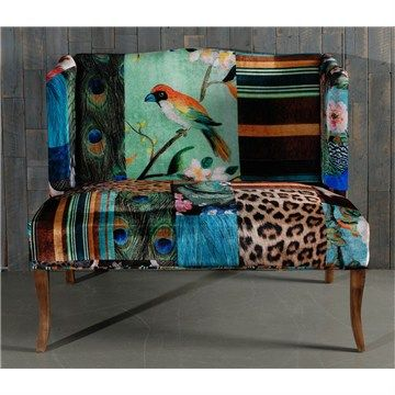 European Designed Bird Pattern Love Seat