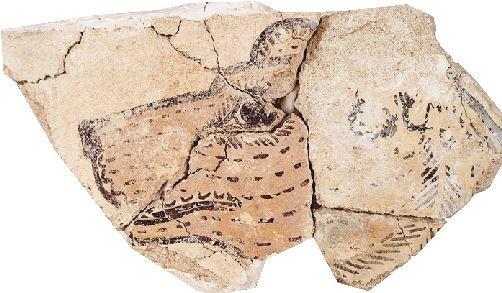 Μετά τη συγκόλληση τμημάτων τοιχογραφίας από τον προθάλαμο του ανακτόρου της Πύλου αποκαλύφθηκε το κεφάλι ενός σκύλου ...