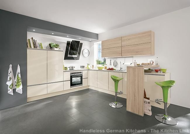 Fresh The new range of LINE N handleless kitchens from Nobilia available at The Kitchen Link