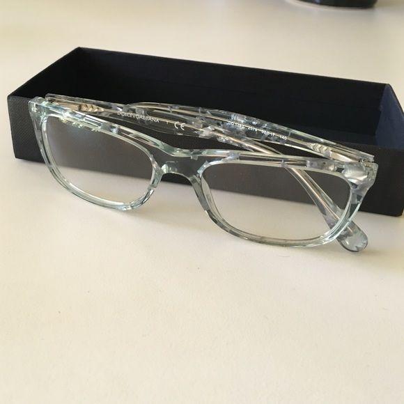 5730455e480c8 Dolce   Gabbana clear sparkly eyeglass frames Brand new Dolce   Gabbana  frames! Clear with grey sparkle glitter! Very fun! Never worn…