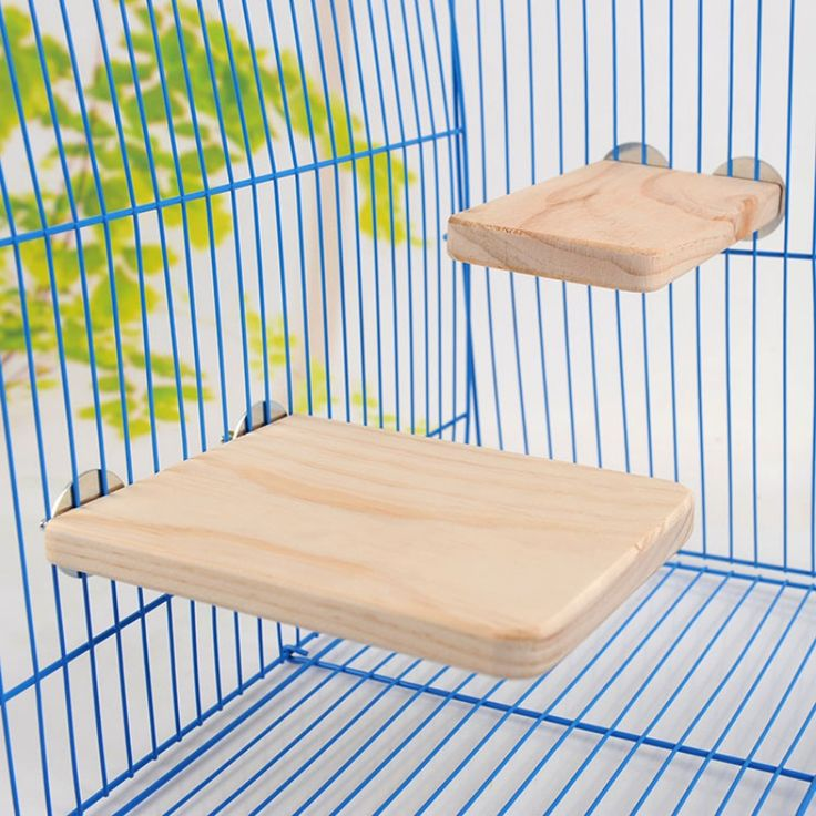 2017 New Wood Trampoline Hamster Squirrel Parrot Totoro Mouse Mice Rectangular Toys Pet Cage Accessories