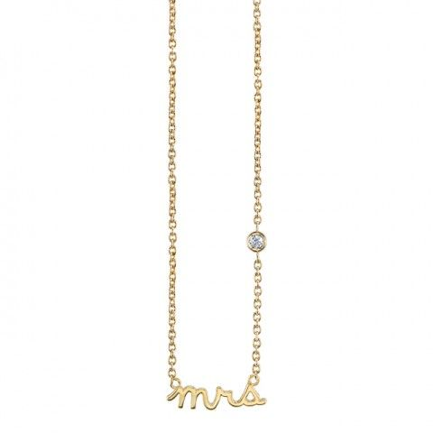 Mini MRS Necklace  $125