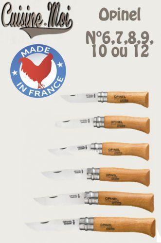 Couteaux-OPINEL-Acier-carbone-aux-choix-N-6-7-8-9-10-ou-12