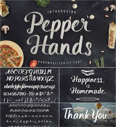 Pepper hands cyrillic font
