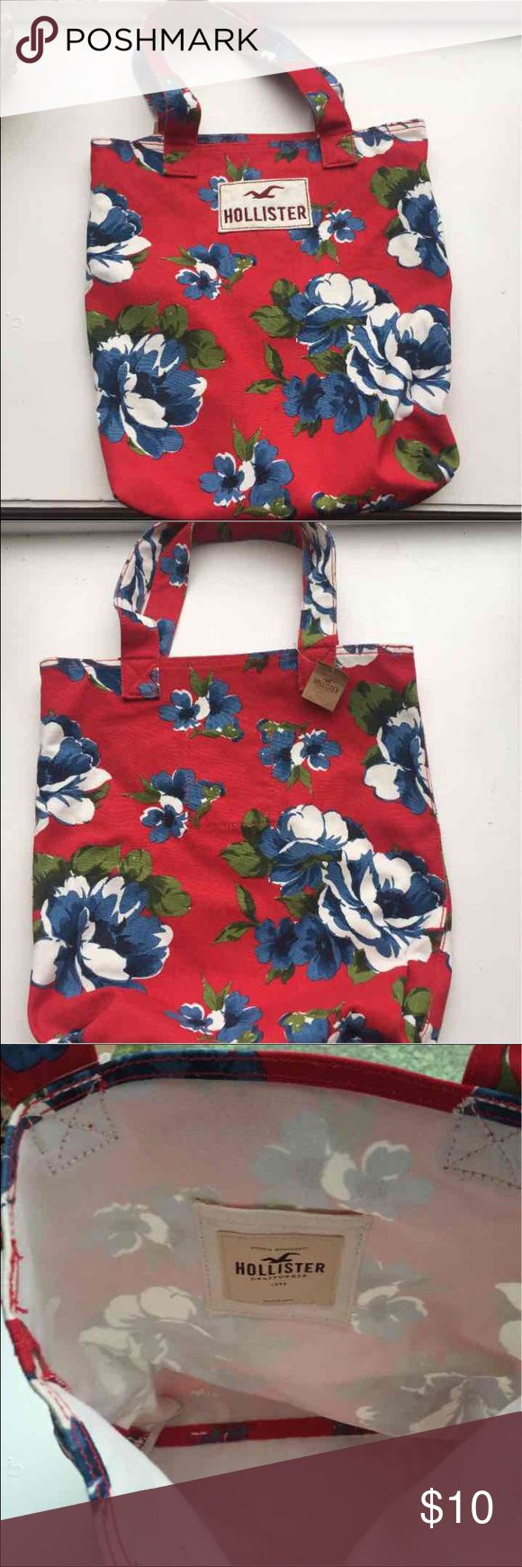 Floral Hollister tote bag Hollister bag/tote/book bag/ floral print/NWT Hollister Bags Totes