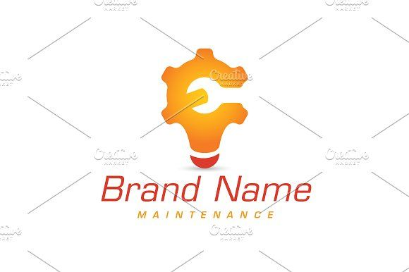 For sale. Only $29 - construction, light, bulb, wrench, cog, gear, cogwheel, energy, repair, fix, smart, idea, tool, orange, red, memorable, simple, modern, creative, stylized, wheel, letter c, letter e, innovation, maintenance, plumbing, handyman, engineering, logo, design, template,