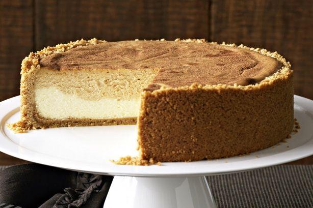 Layered caramel cheesecake main image