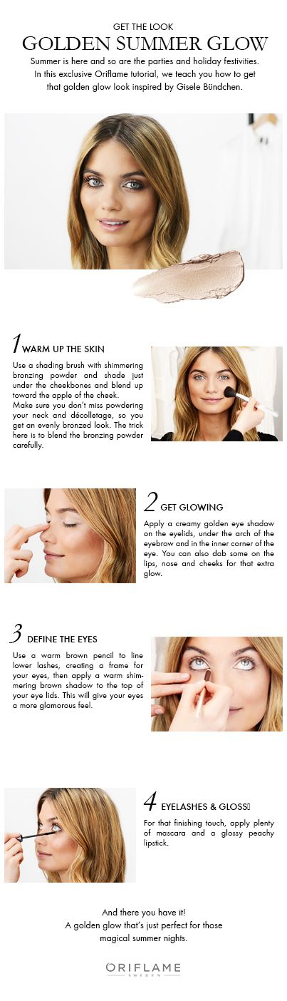 Inspired by Gisele's golden glow, we've now put together this easy, step-by-step video to get you glowing in no time!