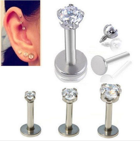 Punk Style Piercing Nose Lip Jewelry Body For Man Women Studs 3 Length Pick