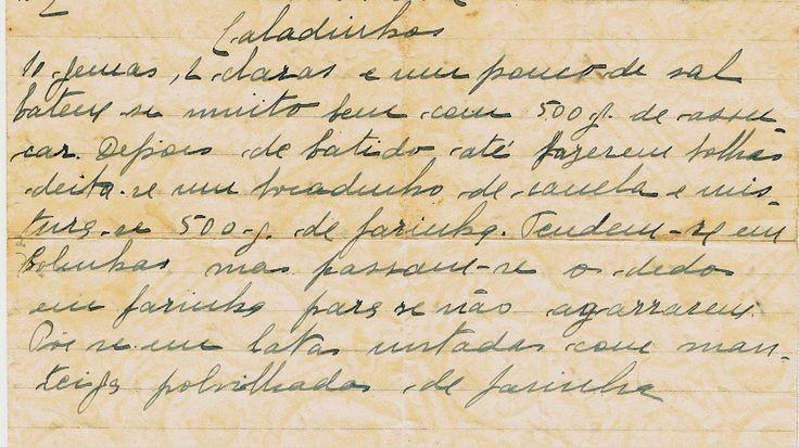 As Receitas da Avó Helena e da Avó Eduarda: Caladinhos