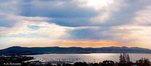 View of Sandy Bay, Tasmania, in morning :)