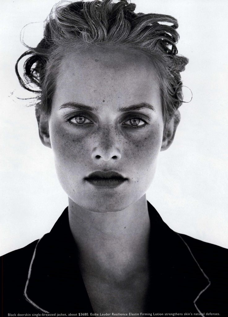 Amber Valletta | Photography by Peter Lindbergh | For Harper's Bazaar Magazine US | January 1995