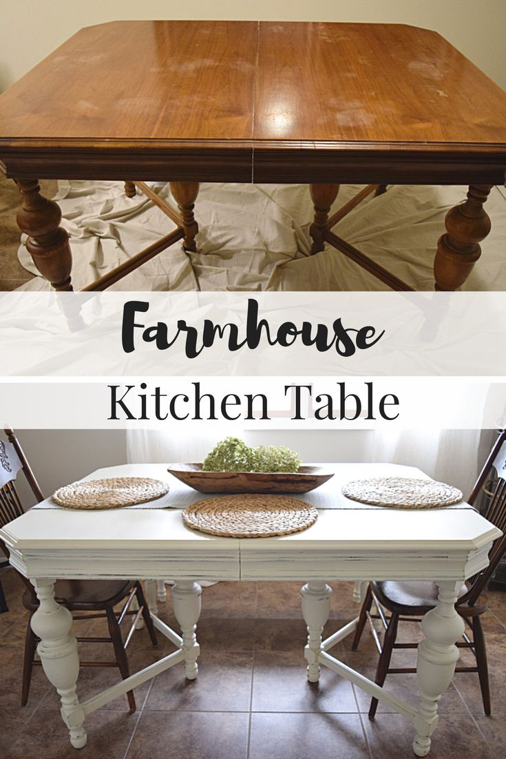 Farmhouse Kitchen Table: One Room Challenge Week 4 - Timeless Creations, LLC